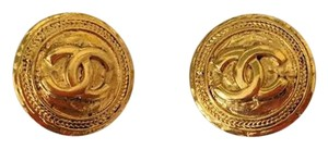 Chanel Authentic Vintage Chanel CC Goldtone Earrings