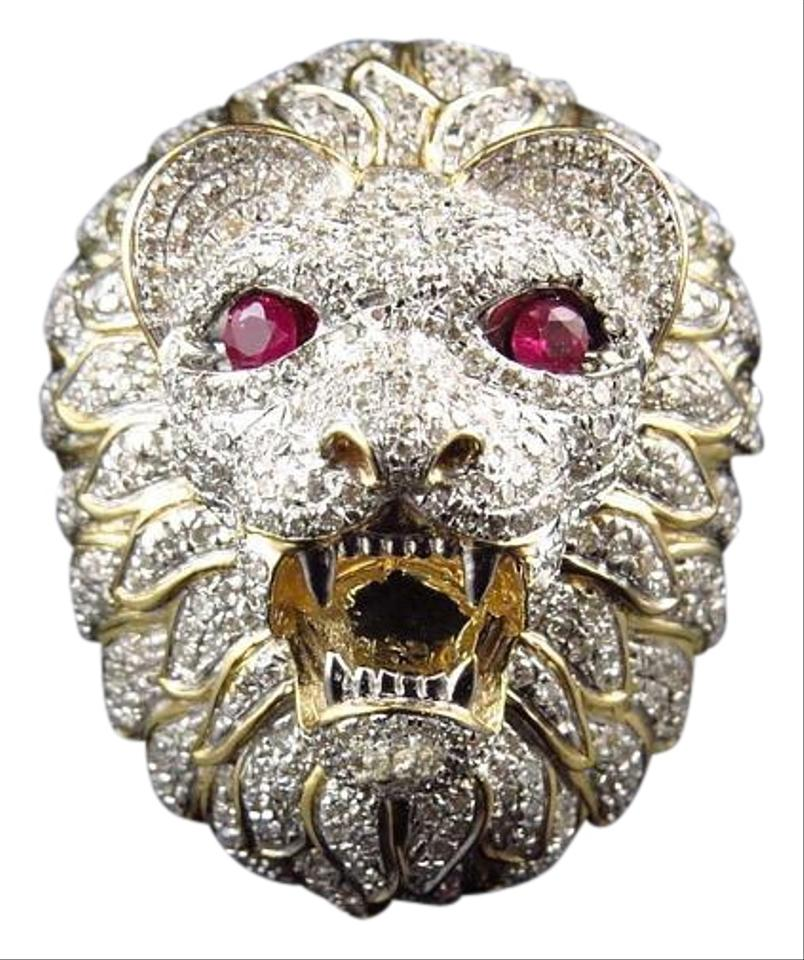 gold ring lion watch yellow rings s head men youtube