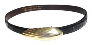 Donna Karan Vintage Kleinberg Sherrill for Donna Karan Alligator Belt - Size M