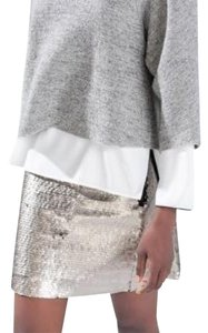 Zara Mini Skirt Silver, Black
