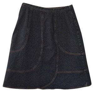 Harve Bernard by Bernard Holtzman Skirt Dark denim