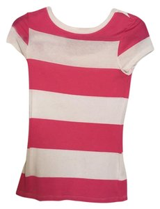 Old Navy T Shirt Pink & white stripe