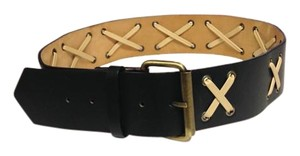 Catherine Malandrino Catherine Malandrino 'X' Pattern Leather Belt - Size Small