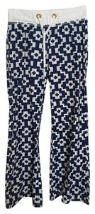 Macbeth Collection Relaxed Pants Blue & white