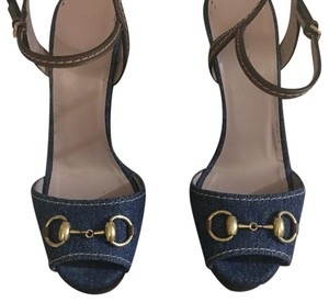 Gucci Denim Platforms