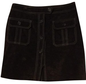 INC International Concepts Mini Skirt Chocolate brown