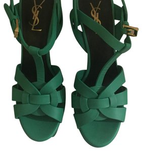 Saint Laurent Mint Green Platforms