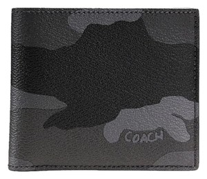 Coach Coach Double Billfold Wallet in Camo Print Coated Canvas F55160 NWT