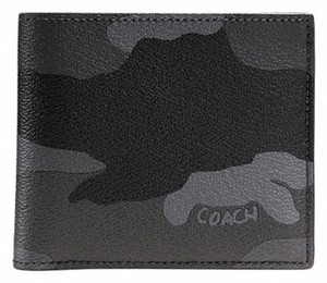 Coach Double Billfold Wallet in Fog Camo Print Coated Canvas F55160 NWT