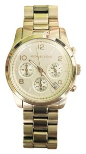 Michael Kors Women's Runway Gold Tone Stainless Steel Chronograph Watch MK5055
