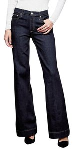Gap 1969 Cotton Blend Denim New Flare Leg Jeans-Dark Rinse