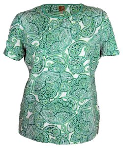 JM Collection T Shirt Green Multi