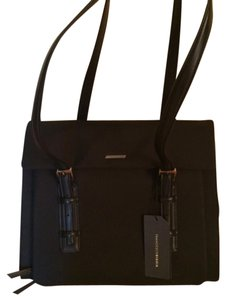 Francesco Biasia Nylon Computer 4 Main Compartments Inner Compartments Adjustable Strap Tote in Black