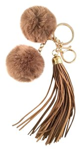 Other Pom Pom Faux Rabbit Fur Leather Tassel Bag/Purse Charm Key Chain