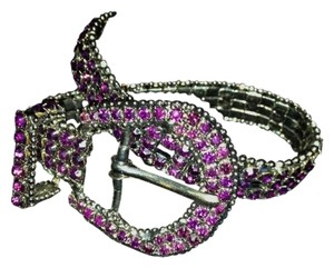 Independent Clothing Co. Deep Purple Rhinestone Belt Style Bracelet