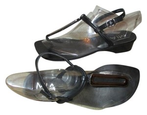 MIA Leather Thong black & silver Sandals