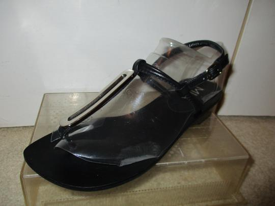 MIA Leather Thong black & silver Sandals Image 1
