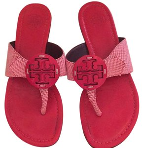 Tory Burch Thongs Red and white Sandals