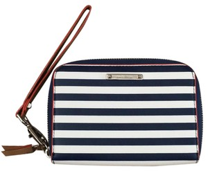 Stella & Dot Navy And White Clutch