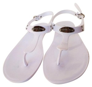 Michael Kors Jelly Tpu Thong White Sandals