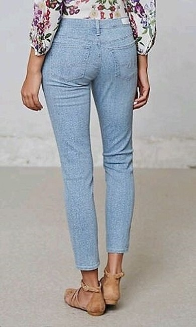 AG Adriano Goldschmied Floral Skinny Stretchy Skinny Jeans-Light Wash