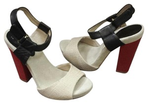 Juicy Couture High Heel Natural, black and red Sandals