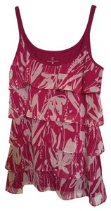New York & Company Top Pink & white