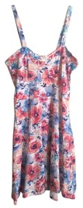 Almost Famous Clothing short dress Blue Pink Summer on Tradesy