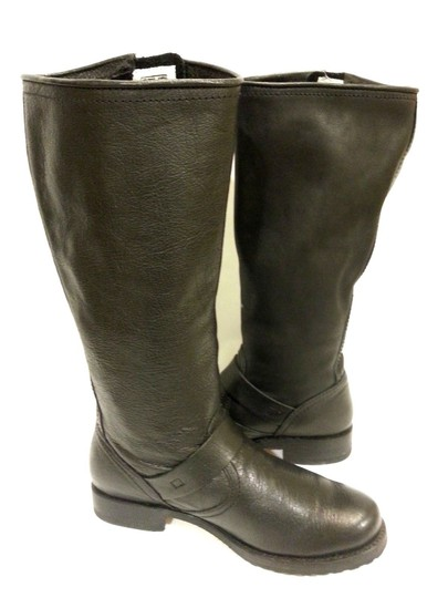 Frye Style #77605 Grain Leather Black Boots Image 1