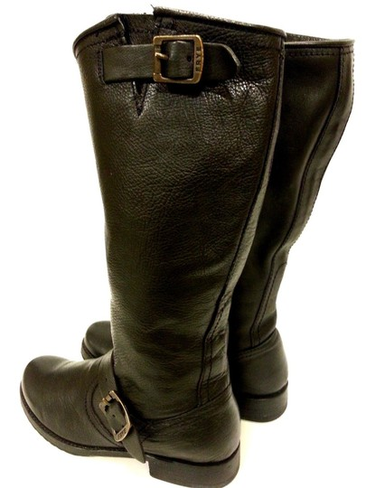 Frye Style #77605 Grain Leather Black Boots Image 2