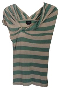 Anthropologie T Shirt Gree & tan