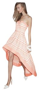 Orange and white Maxi Dress by Alexis High Low Striped