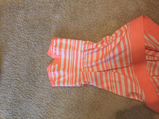 Orange and white Maxi Dress by Alexis High Low Striped Image 1
