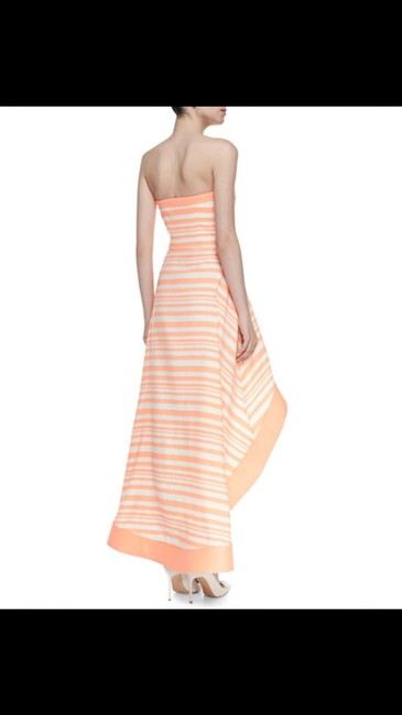 Orange and white Maxi Dress by Alexis High Low Striped Image 3