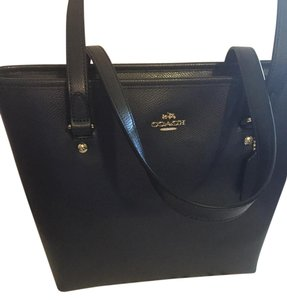 Coach Leather Tote in Midnight