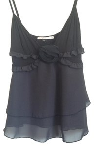 RED Valentino Silk Ruffled Made In Italy Top Black