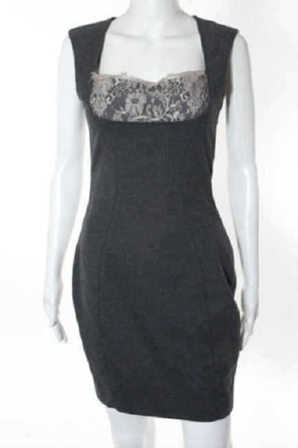 L'AGENCE Shift Sheath Lace Vintage Retro Dress Image 2