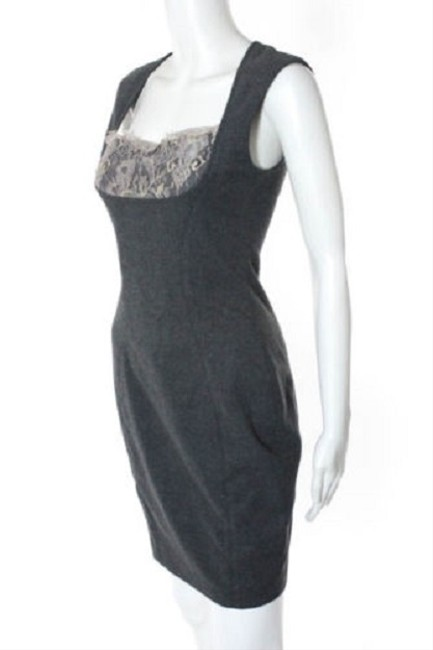 L'AGENCE Shift Sheath Lace Vintage Retro Dress Image 4