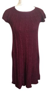Calvin Klein Short Sleeve Cable-knit Dress