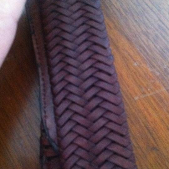 """Fossil FOSSIL """"Maddox"""" Brown Leather Fishtail Braided Belt"""