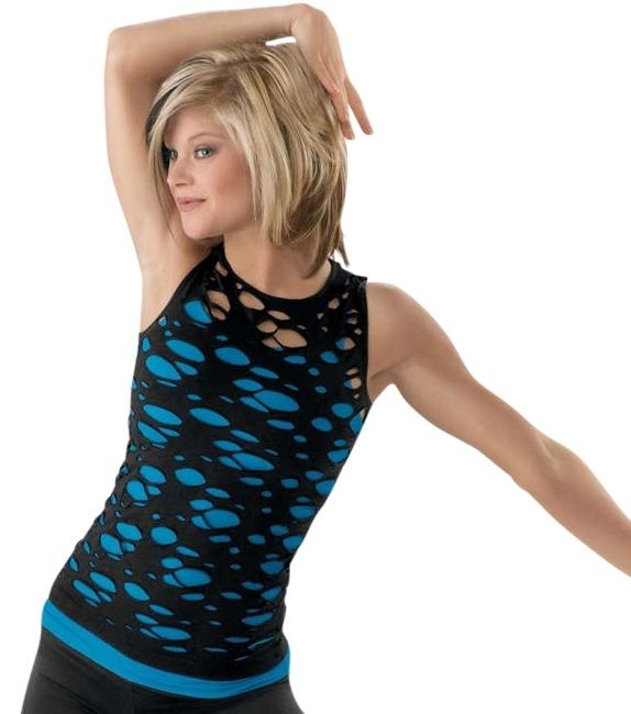 Balera Ripped Dancewear Top Black
