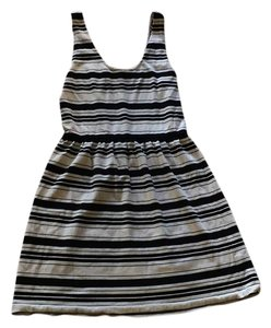 J.Crew short dress Black and cream on Tradesy