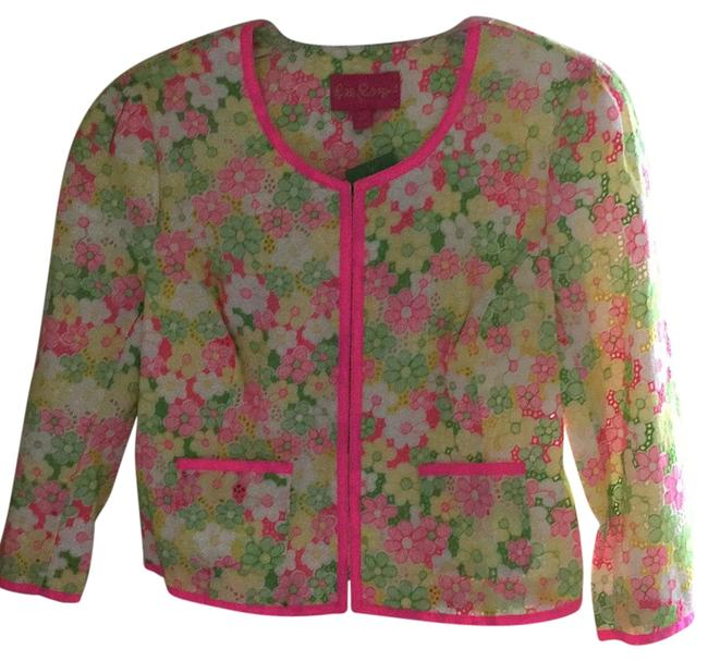 Preload https://img-static.tradesy.com/item/17941912/lilly-pulitzer-multi-floral-sunbonnet-lace-nelle-jacket-size-10-m-0-1-650-650.jpg