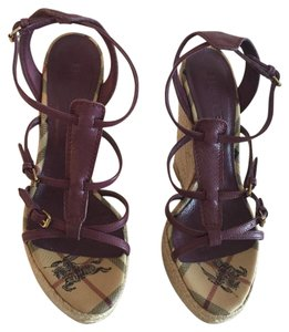 Burberry Purple Platforms