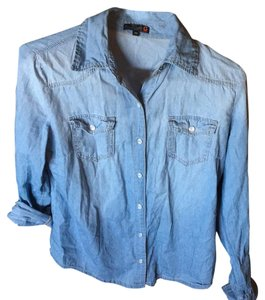 Guess By Marciano Button Down Shirt Light blue denim