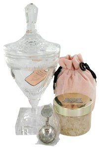 Juicy Couture JUICY COUTURE Huge Crystal Goblet w/ Pacific Sea Salt Soak in Gift Box