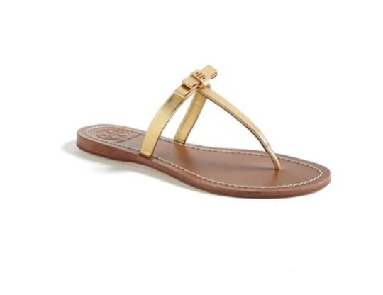 Tory Burch Gold Sandals Image 1