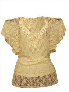 Wrapper by Shannon Ford Lace New Top Ivory