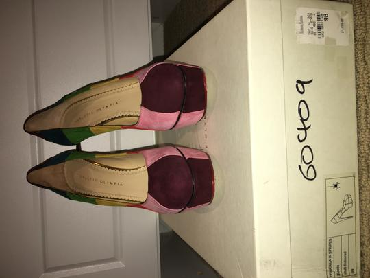 Charlotte Olympia Rainbow Multi Colored Suede Platforms Image 10