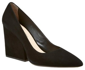 Loeffler Randall Suede Wedge Pointed Toe Black Pumps